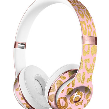 Pink Gold Flaked Animal v3 Full-Body Skin Kit for the Beats by Dre Solo 3 Wireless Headphones