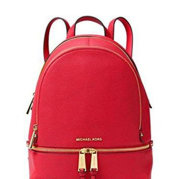 MICHAEL Michael Kors Rhea Zip Medium Backpack (Bright Red)