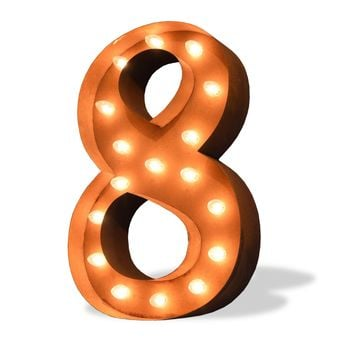 """24"""" Number 8 (Eight) Sign Vintage Marquee Lights"""