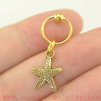 starfish earring,Tragus Earring,Cartilage earring,piercing Earring,fantastic ear Helix Cartilage jewelry,oceantime