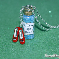 No Place like Home Magical Necklace with Ruby Red Slippers Charm, The Wizard of Oz, Dorothy, Oz, by Fandom Magic