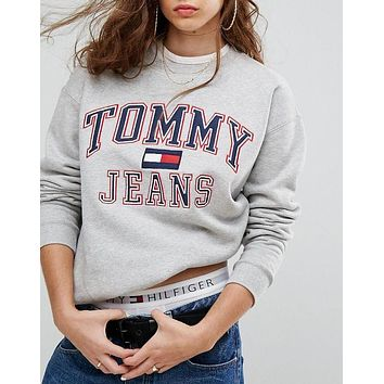 Tommy Hilfiger 90s Capsule Logo Sweatshirt Top Sweater Pullover