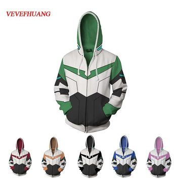 Cool VEVEFHUANG Voltron Legendary Defender Lance Shiro jacket cosplay Princess Allura Costumes 3D Printing Sweatshirts Hooded sweaterAT_93_12