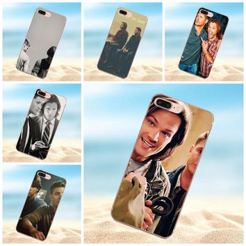 Qdowpz Soft TPU Mobile Phone Cases For Apple iPhone X 4 4S 5 5C 5S SE 6 6S 7 8 Plus Supernatural Sam And Dean
