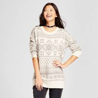 Women's Patterned Pullover Sweater - Mossimo Supply Co.™ Cream