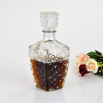 250ml 500ml 1000ml High Quality Glass Whiskey Liquor Wine Drinks Decanter Crystal Bottle Wine Carafe Gift my bottle mug