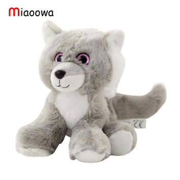 Wolf Husky Plush Toy Stuffed Soft Big Eyes Animals Toy