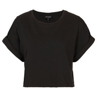 Roll Back Crop Tee - Topshop USA