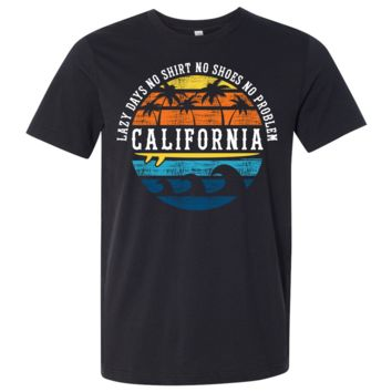 California Lazy Days Asst Colors Mens Lightweight Fitted T-Shirt/tee