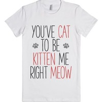 Cat jokes-Female White T-Shirt