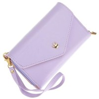 Angel Wings New Multi Propose Envelope Coin Wallet Case Card Purse for Galaxy S2,smart Iphone 4,4s Mothers Day Gifts (violet purple)