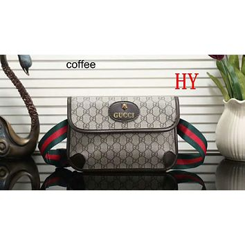 GUCCI 2018 Women's Delicate Casual Trendy Shoulder Bag F-LLBPFSH Coffee