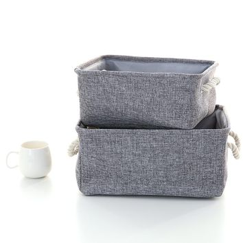 new linen clothes sorting box Large capacity kids Bins organizer bag Laundry Toy Storage Basket Pouch Washing Home Bags Folding