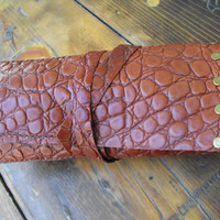 Christmas husband gift watch travel roll leather brown pouch