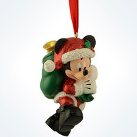 Disney Parks Mickey as Santa With Presents Bag Christmas Ornament New With Tags