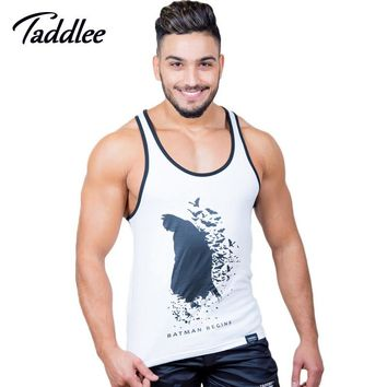 Taddlee Brand Men Top Tees Shirts Sleeveless Fitness Stringer Singlets Gym Muscle Sports Cotton Tank Tops Gasp Bodybuilding 2017