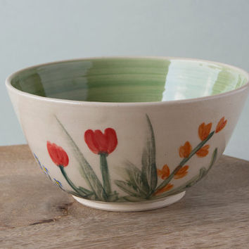 Small Pottery Bowl / Decorative Pottery Serving Bowl / Salsa Bowls / Chips and Dips / Snack Bowl / Ice Cream Bowl