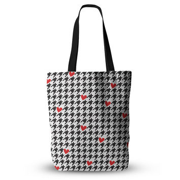 "Empire Ruhl ""Spacey Houndstooth Heart"" Everything Tote Bag"