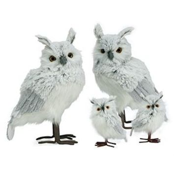 Faux Fur Owl - Set of 2 | Halloween | Home Accents | Decor | Z Gallerie