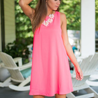 All About The Chase Dress, Hot Pink