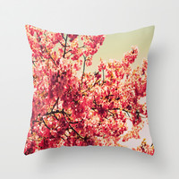 Romantic Pink Flower Romance Series #1 Throw Pillow by 2sweet4words Designs