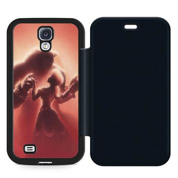 Beauty and the Beast Disney Leather Wallet Flip Case Samsung Galaxy S4