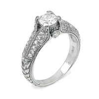 Nancey's Antique Style Diamond CZ Promise Ring