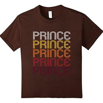 Prince Retro Wordmark Pattern   Vintage Style T Shirt