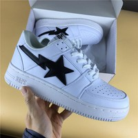 Foot Soldier BAPE STA White/Black Star Sneaker Shoe 36-45