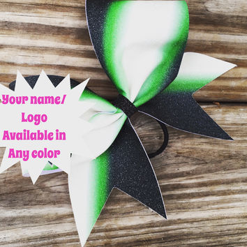 Sublimated glitter bow. Available in any color!