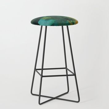 Green and Gold Bar Stool by duckyb