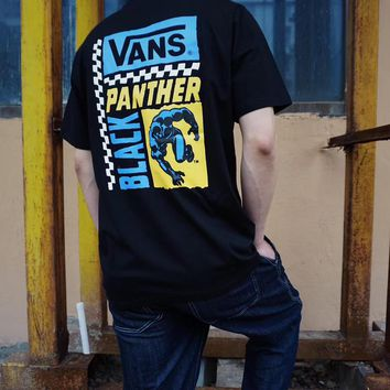 HCXX 19June 890 VANS × Marvel Avenger Alliance Panther Manway Co-star Superhero Clothes Printing T-Shirt