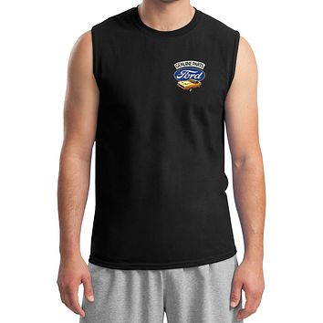 Ford Mustang T-shirt Genuine Parts Pocket Print Muscle Tee
