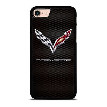 CORVETTE CHEVY ON HEXAGON CARBON iPhone 8 Case Cover