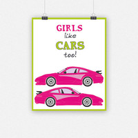 Girls like CARS too!