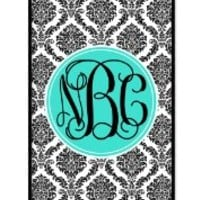 iZERCASE Monogram Personalized Damask Pattern iphone 5 / iPhone 5S case - Fits iphone 5, iPhone 5S T-Mobile, AT&T, Sprint, Verizon and International (Black)