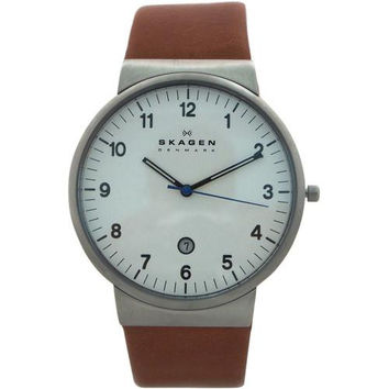 Skagen - SKW6082 Ancher Leather Watch Watch 1 piece