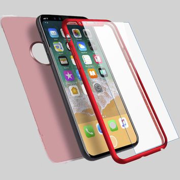 Shockproof Hybrid 360 TPU Gel Slim Thin Cover Case For iPhone 10 X 8 7 6s 6 Plus