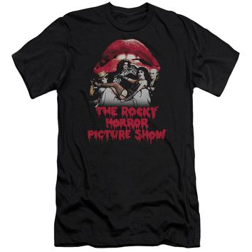 Rocky Horror Picture Show - Casting Throne Premium Canvas Adult Slim Fit 30/1 Shirt Officially Licensed T-Shirt