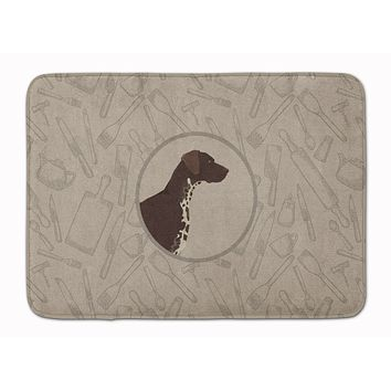 German Shorthaired Pointer In the Kitchen Machine Washable Memory Foam Mat CK2188RUG