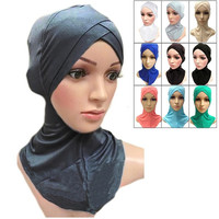 Muslim Cotton Full Cover Inner Hijab Caps Islamic Hats Islamic Underscarf Colors = 1930470148