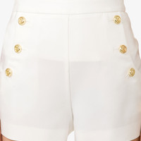 Nautical Button Sailor Shorts