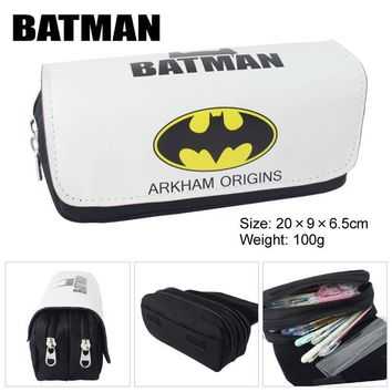 Batman Dark Knight gift Christmas Super Hero Batman Boys Girls Cartoon Pencil Case Bag School Pouches Children Student Pen Bag Kids Purse Wallet Gift AT_71_6