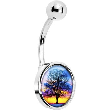 Sunset Tree Belly Ring