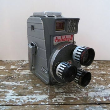 Mansfield Holiday II 8mm Cine Tureret Camera Vintage Movie Camera
