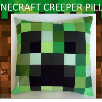 Set of 2 Minecraft Creeper Pillows- 16x16