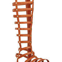 DailyLook: Simply Studded Gladiator Sandals in Cognac 6.5