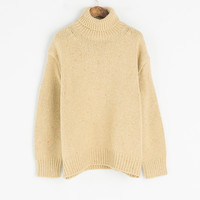 Boucle Detail Pullover Jumper, Yellow