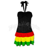 Rasta and Reggae Dress: Bandeau Short Dress @ RastaEmpire.com