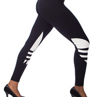 TREFOIL LEGGINGS - Black - adidas | Jimmy Jazz